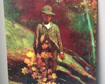 Winslow Homer Print - Gathering Autumn Leaves vintage antique vintage art painting
