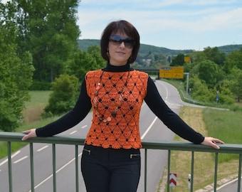 Vest. Top. Crochet. Size 34-36