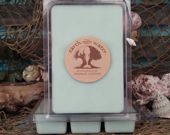 Soy Wax Melts- Mermaid Lagoon Melts- 6 Pack Soy Melts