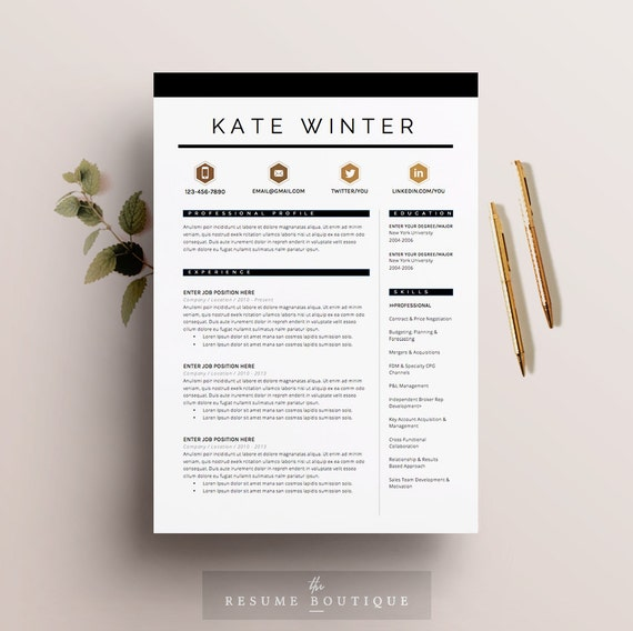 resume template 4 pages cv template cover letter for ms