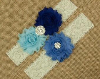 Something Blue Wedding Garter, Blue Wedding Garter Set, Bridal Garter Set, Lace Wedding Garter, Garter, Blue Garter, Lace Garter Set SCI3-4