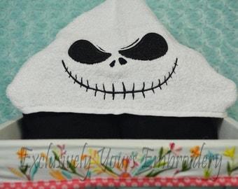 Skeleton Hooded Towel - Baby Towel - Childrens Hood Towel - Bath Towel - Beach Towel - Personalized Towel - Character Towel