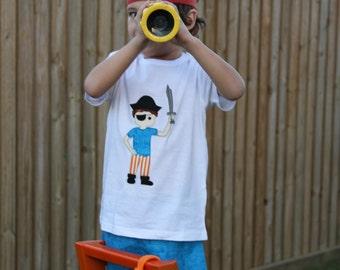 Calico Jack Pirate Boy Sketchy Free-Motion Appliqué Pattern