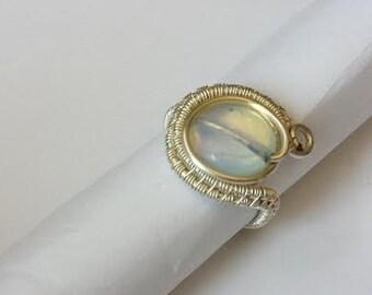 Opalite Adjustable Ring