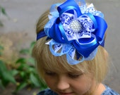 Hair bows for girls Large hair bows Boutique hair bows Big hair bows Stacked hair bows Hair bow for teens for toddlers Navy hair bow