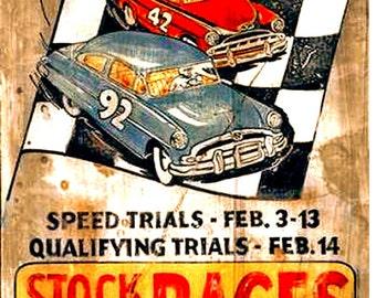 1954 Daytona Beach Stock Car Racing