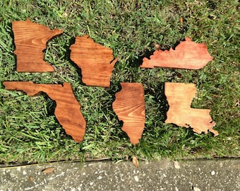 Wooden State Wall Hangings