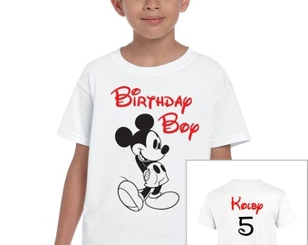 Disney Mickey Mouse Custom Birthday Boy Shirt