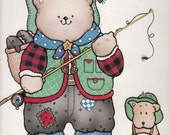 Daisy Kingdom Iron-On Transfer - Pinecone Pete & Spruce - Daisy Kingdom Crafts - Vintage Iron-On Transfers