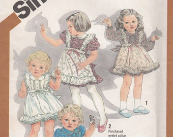 Simplicity 5257 Cinderella Toddlers Dress Sewing Pattern - Girls Dress Sewing Pattern - Vintage Sewing Pattern - Uncut Sewing Pattern