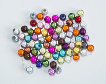 50 beads Magic 4mm - multicolor