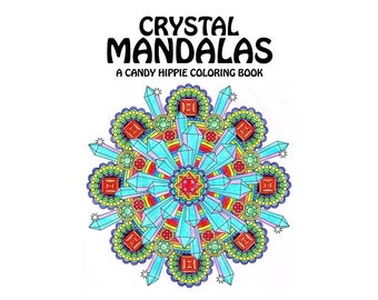 Crystal Mandalas Adult Coloring Book