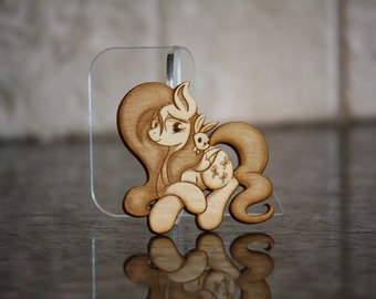 Mini Wood Laser Cut - NekoCrispy's Fluttershy