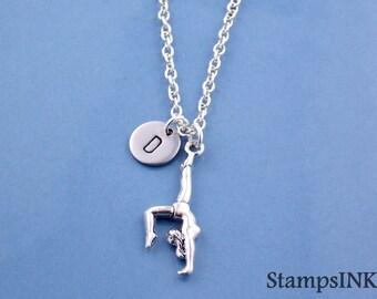 Personalized Gymnastics, Gymnastics Necklace, Gymnastics jewelry, Gymnastics Gifts, Gymnast pendant, Gymnast jewelry, Gift for her Stampsink