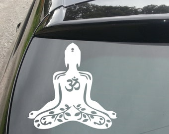 Meditating Buddha Funny Decal for Car/Home/Windows