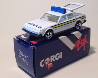 1985 Collectors Item - Corgi Toy Car - Rover 3500 in UK Police Livery - Boxed