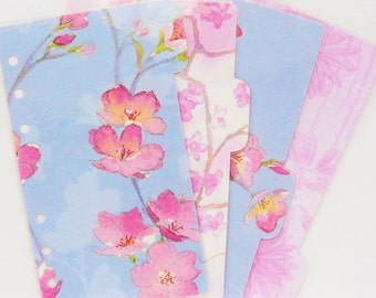 Set of 4 Pastel Floral PERSONAL / A5 / Pocket Planner Dividers