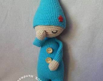 The Sleeping Doll Amigurumi Doll crochet pattern