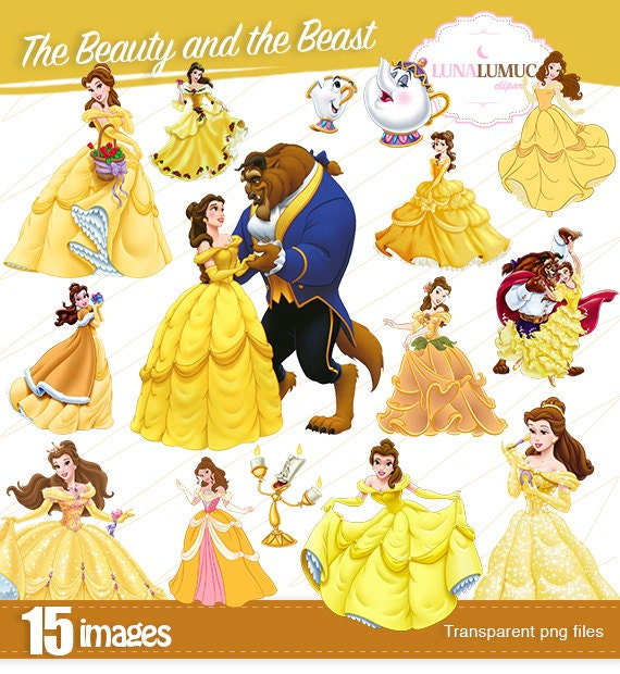 Summer Sale The Beauty And The Beast Clipart Instant Download