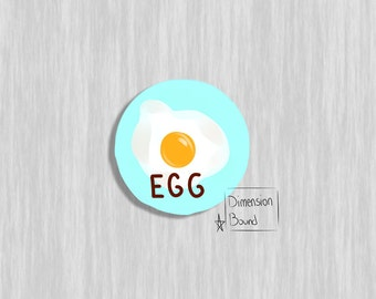 Aesthetic sticker art Egg  laptop stickers (2.5 inch Round Stickers) Not just a sticker its art you can take with you
