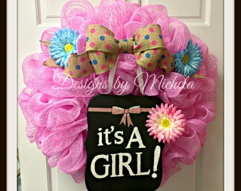 It's a Girl! New Baby Wreath, BR130