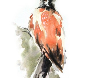 Bird  Painting , Bird watercolor painting, watercolor, Bird print Art print size 8X11 inch for room décor and special gift  No.285