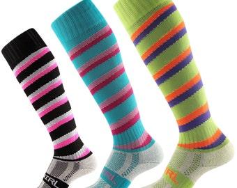Samson® Swirl Spiral Funky Socks Candy Cane Sport Knee High Sport Football Hockey Rugby Soccer