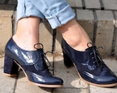 Fulham - Oxford Pumps, Womens Oxfords, Handmade Leather Shoes, Heeled Oxfords, Oxford Heels, Custom Shoes, FREE customization!!!