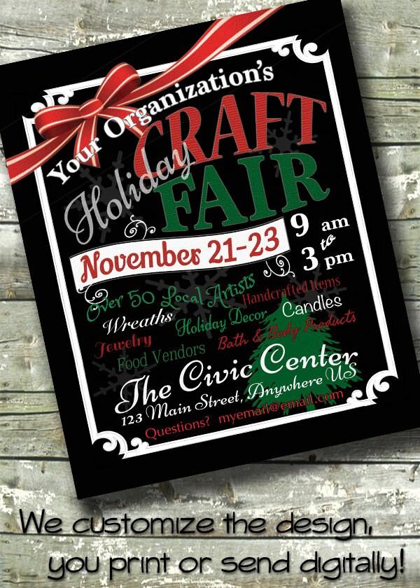 Holiday ARTS & CRAFT FAIR Bazaar 5x7 Invite 8.5x11 Flyer