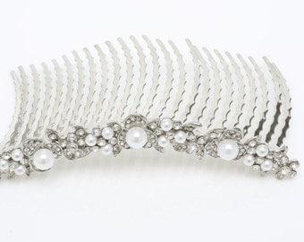 Bridal Hair Comb, Wedding Hair Accessories, Pearl Hair Comb, Meeta Bridal Hair Comb