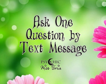 Ask One Question by Text Message - Psychic Reading - PDF
