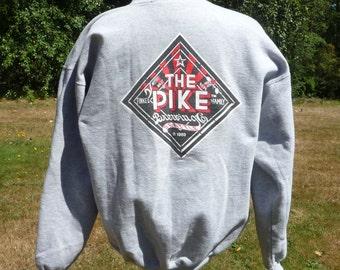 the PIKE BREWING COMPANY since 1989, Seattle Washington,medium gray sweatshirt