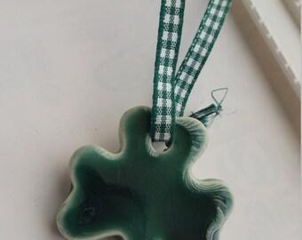 Irish Shamrock - handmade ceramic decoration