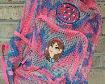 Monogrammed Backpack | Mesh Backpack | Back to School | Girls Backpack | Anna Backpack | Book Bag | Frozen Backpack | School Bag | Backpack