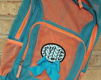 Monogrammed Backpack | Mesh Backpack | Back to School | Girls Backpack | Boys Backpack | Book Bag | Kids Backpack | School Bag | Backpack