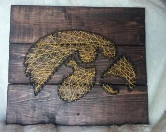 Iowa Hawkeyes String Art
