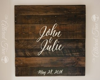Wedding Guest Book Alternative Pallet Sign