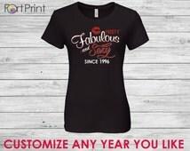 19th Birthday, 19th Birthday t shirt Gift , 19th Birthday, 19th ,19th Birthday Present , fabulous sexy since 1996 tshirt  , 19 gift idea