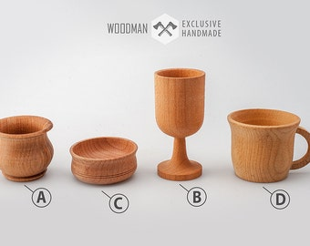 Wooden dishes Wood bowls Wooden mug & cup Kitchen decor Cookware