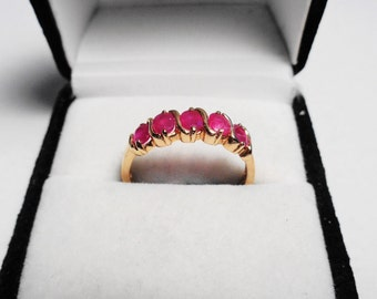 Ruby Ring 14kt.   Natural Ruby swril in a 14kt gold ring.