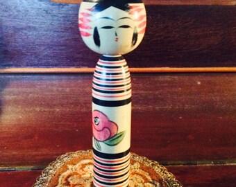 Japanease Traditional Kokeshi Spool Doll