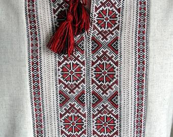 Handmade Vyshyvanka for men Ukrainian gift Vyshivanka Linen Embroidered mens shirt Ukrainian embroidery Made in Ukraine