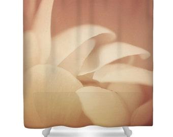 Peach shower curtain, peach bathroom decor, floral shower curtain, flower power, floral bathroom, light peach,peach decor, matching bath set