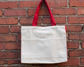 Cotton Canvas Bag with Front Pocket