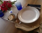 Set of 4 placemats rustics in acacia wood