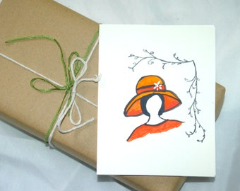 Handpainted greeting card