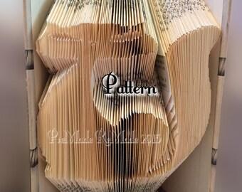 Retro Cat - Folded Book Art Pattern - Instant Download!