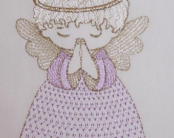 Angel Machine embroidery design instant download