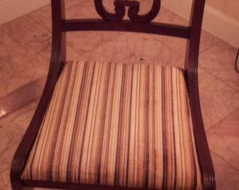 Mid-Century Charlotte Chair Company Lyre Chair (Harp Back)