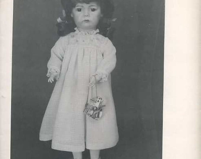"""FREE usa SHIP Byron Doll Pattern 1980's 136 Fits 19.5"""" Priscilla Dress Old Store Stock Sewing Pattern"""